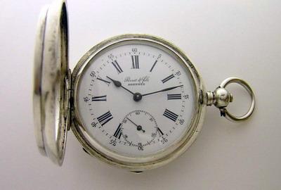 Часы карманные, Швейцария, золотые, 750 проба.Часы Perret & Fils Brenets La Palme Ancre 15
