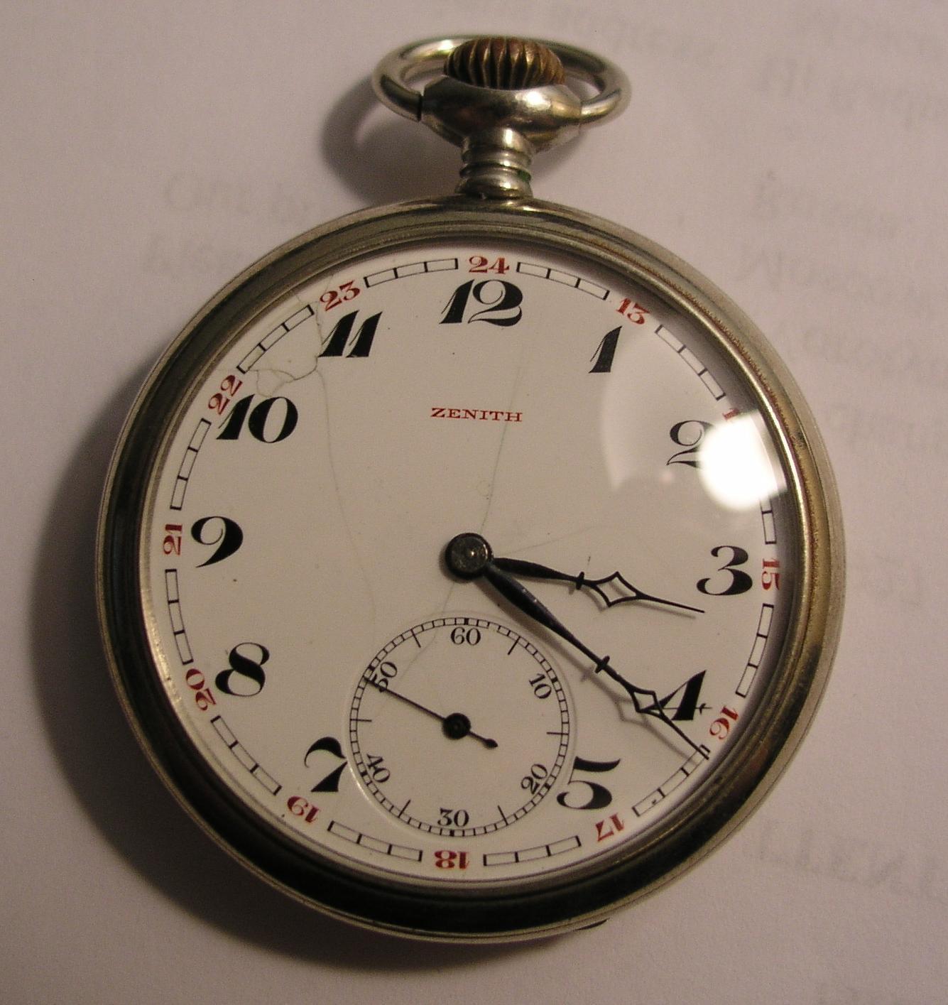 ... карманные часы ZENITH ~1910 года: german242.com/w/Zenith1/Zenith1.htm